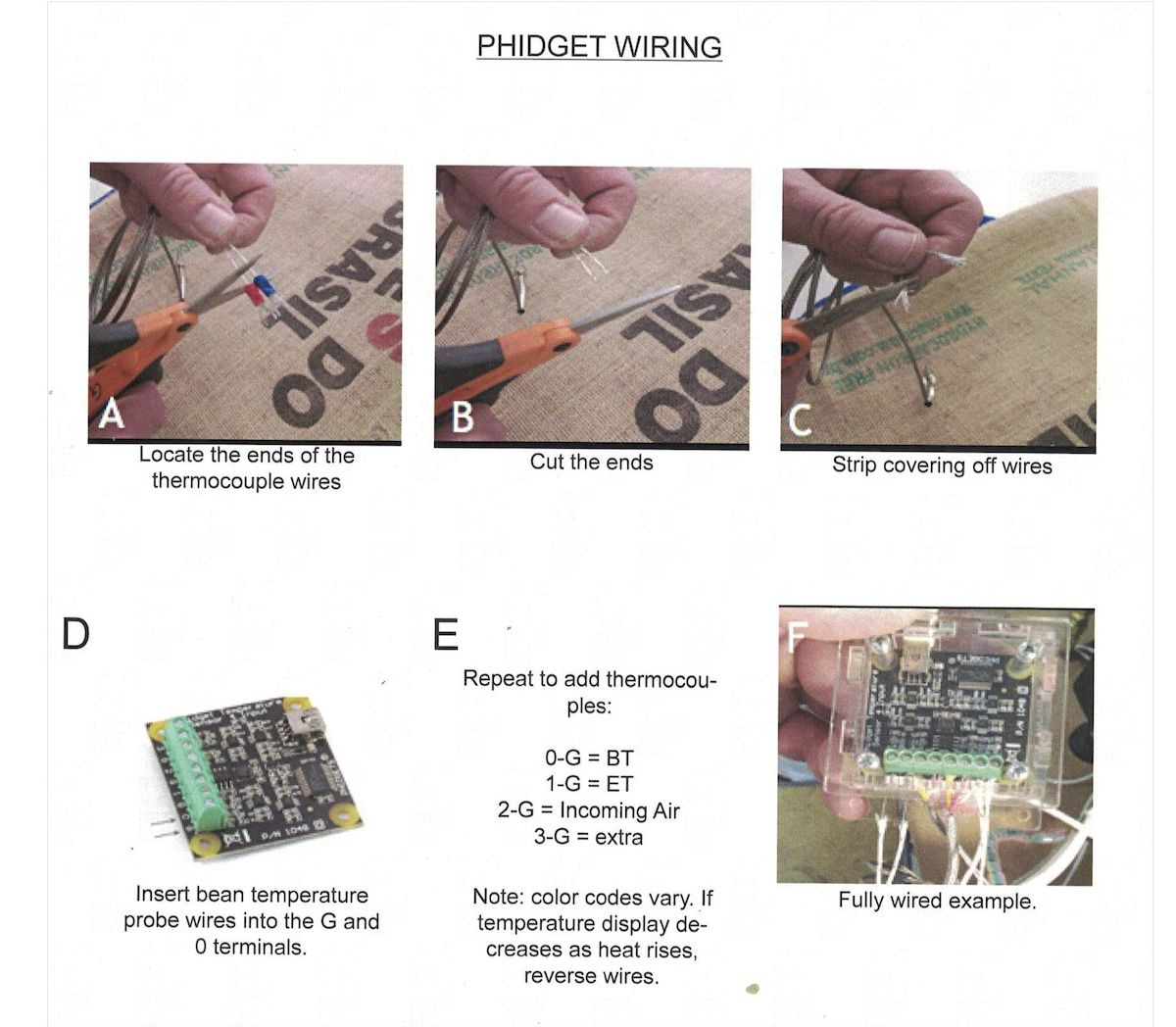 Phidget Connections
